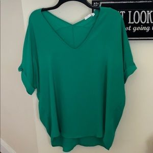 Green blouse
